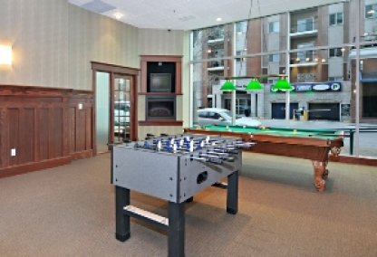 Games room at The Emerald Stone