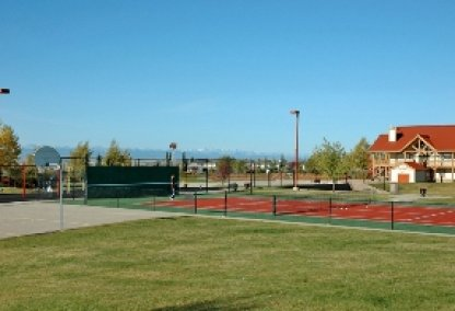 Tennis courts at Rocky Ridge Ranch Centre