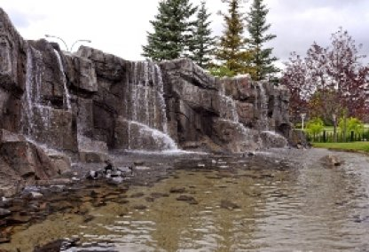 Waterfall in Discovery Ridge, Calgary Alberta