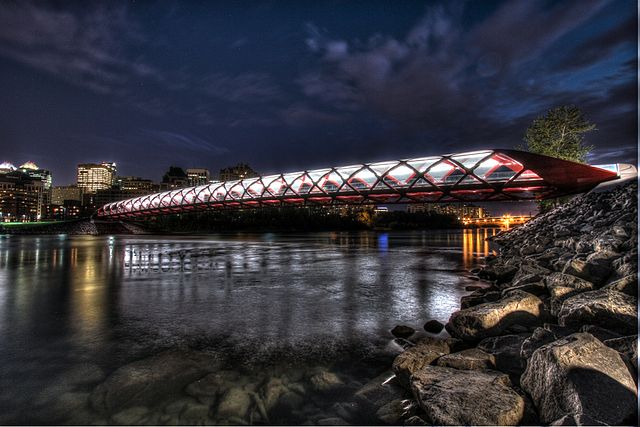 The Peace Bridge - Image Credit: http://en.wikipedia.org/wiki/File:The_Peace_Bridge_in_Calgary_an_HDR_photo.jpg
