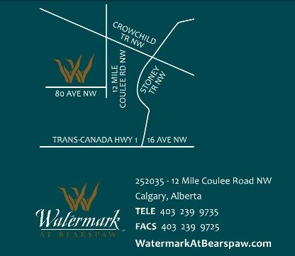 Map of Watermark at Bearspaw